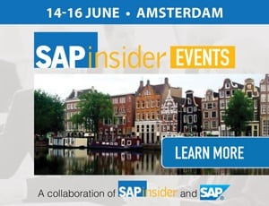 SAPinsider Events In Amsterdam – 14th To 16th June 2017