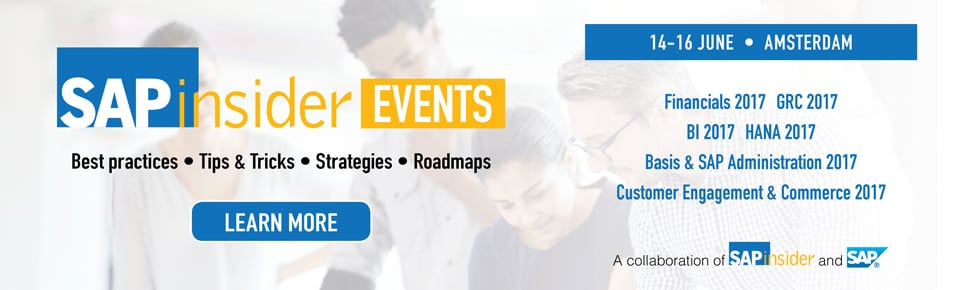 SAPinsider Events Amterdam
