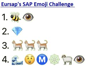 Eursap's SAP Emoji Challenge – SAP Brain Teaser Puzzle