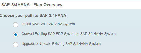 Choose your path to SAP S/4HANA