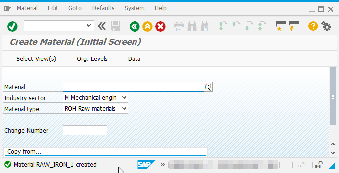 How to create Material Master in SAP MM